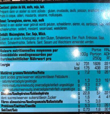 Mandarin Rice - Voedingswaarden - fr