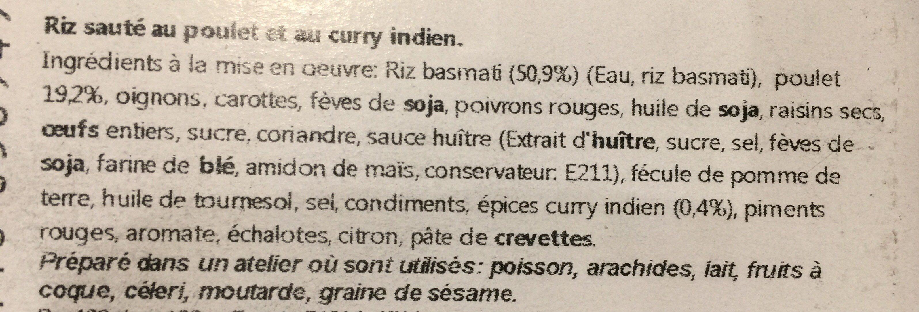 Riz jaipur - Ingrediënten - fr