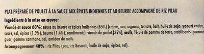 Butter chicken & riz pilau - Ingrediënten - fr
