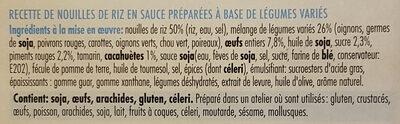 Rice noodles - Ingredients