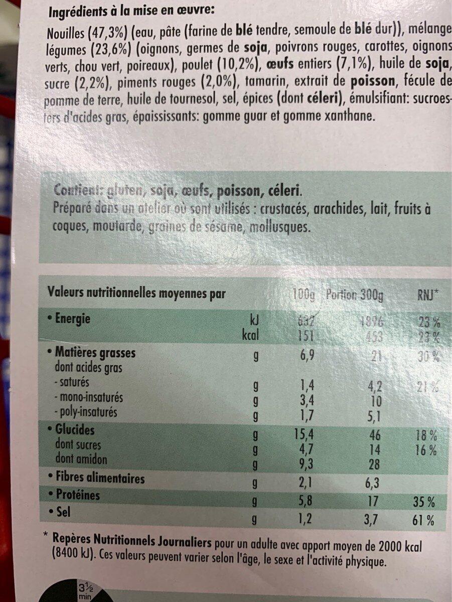 Pattaya noodles - Voedingswaarden - fr