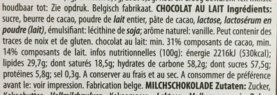 Milk Chocolate - Ingrediënten - fr