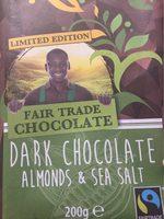 Dark chocolat almonds&sea salt - Product - fr