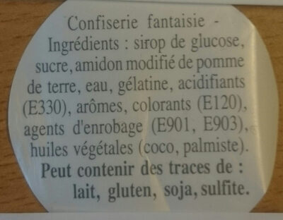 Cerises - Ingrediënten - fr