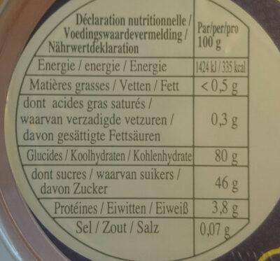 Cerises - Voedingswaarden - fr