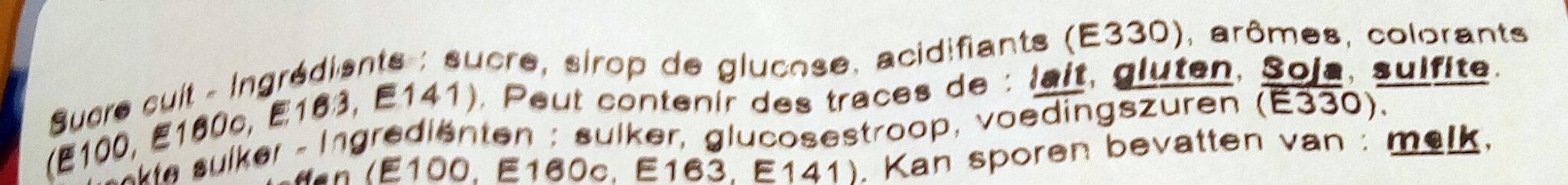 Confiserie - Ingrédients - fr