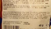 sucettes saint-nicolas - Informations nutritionnelles