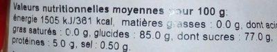 Petites Meringues Fantaisie - Voedingswaarden - fr