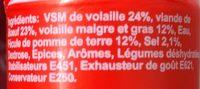 Boeuf nature amylace - Ingredients