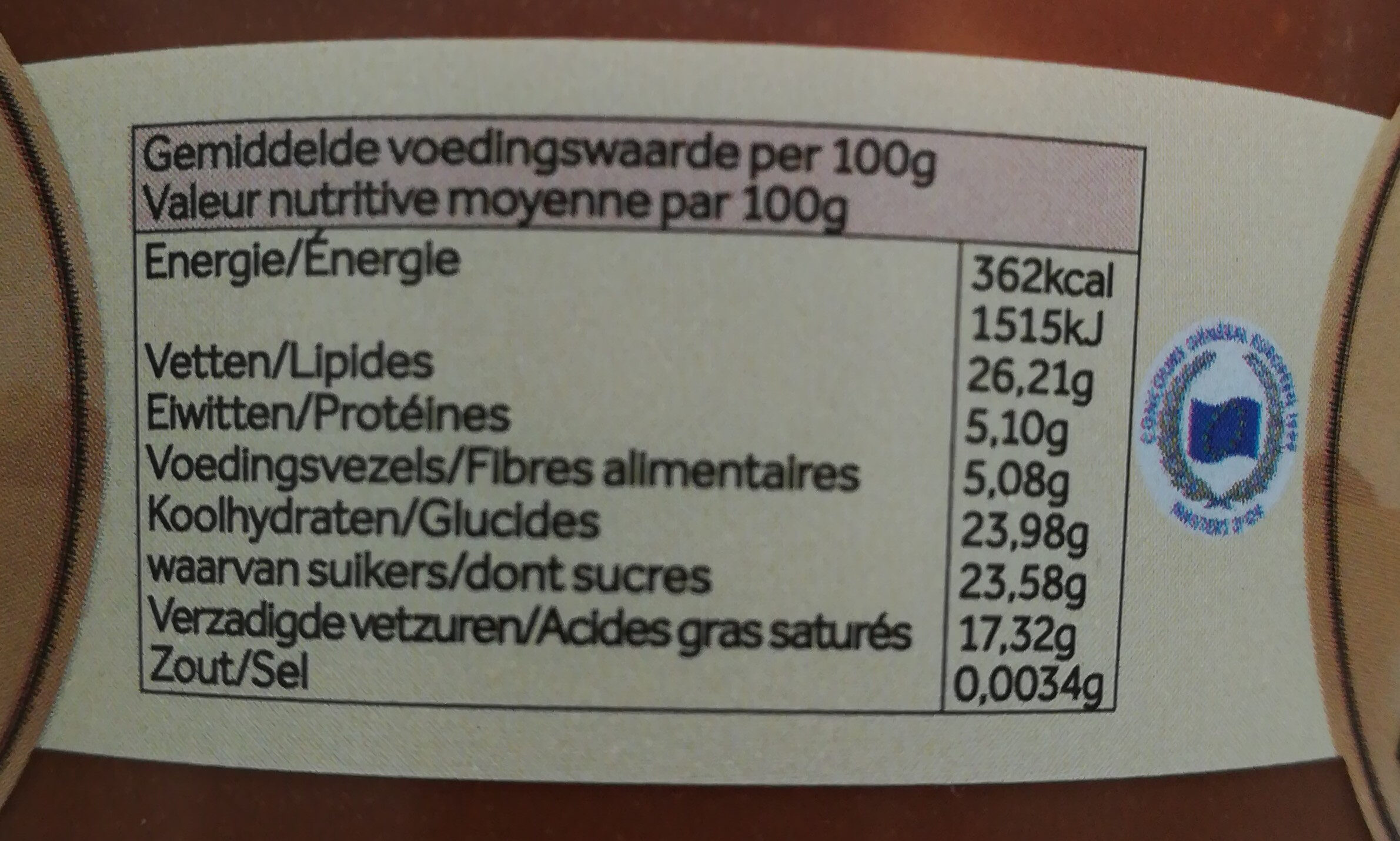 Choco Light Rabeko - Informations nutritionnelles - fr