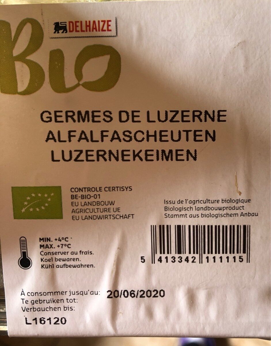 Luzerne alfalfa - Informations nutritionnelles - fr
