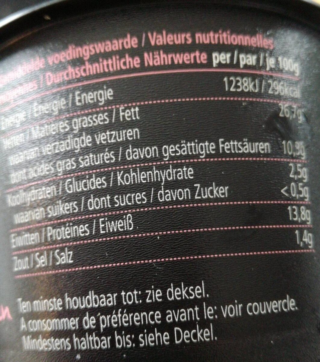 Finest rillettes - Nutrition facts