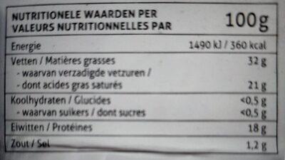 Chamois d'Or - Voedingswaarden - fr