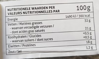 Chamois d'Or - Voedingswaarden