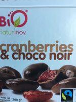 Cranberries et chocolat noir - Prodotto - fr