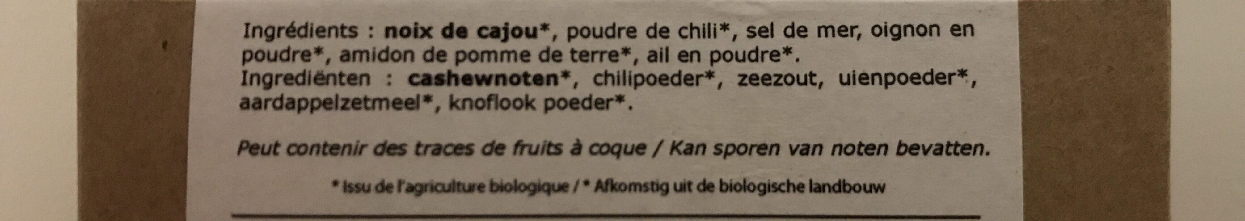 Noix de cajou grillees au chili - Ingrediënten