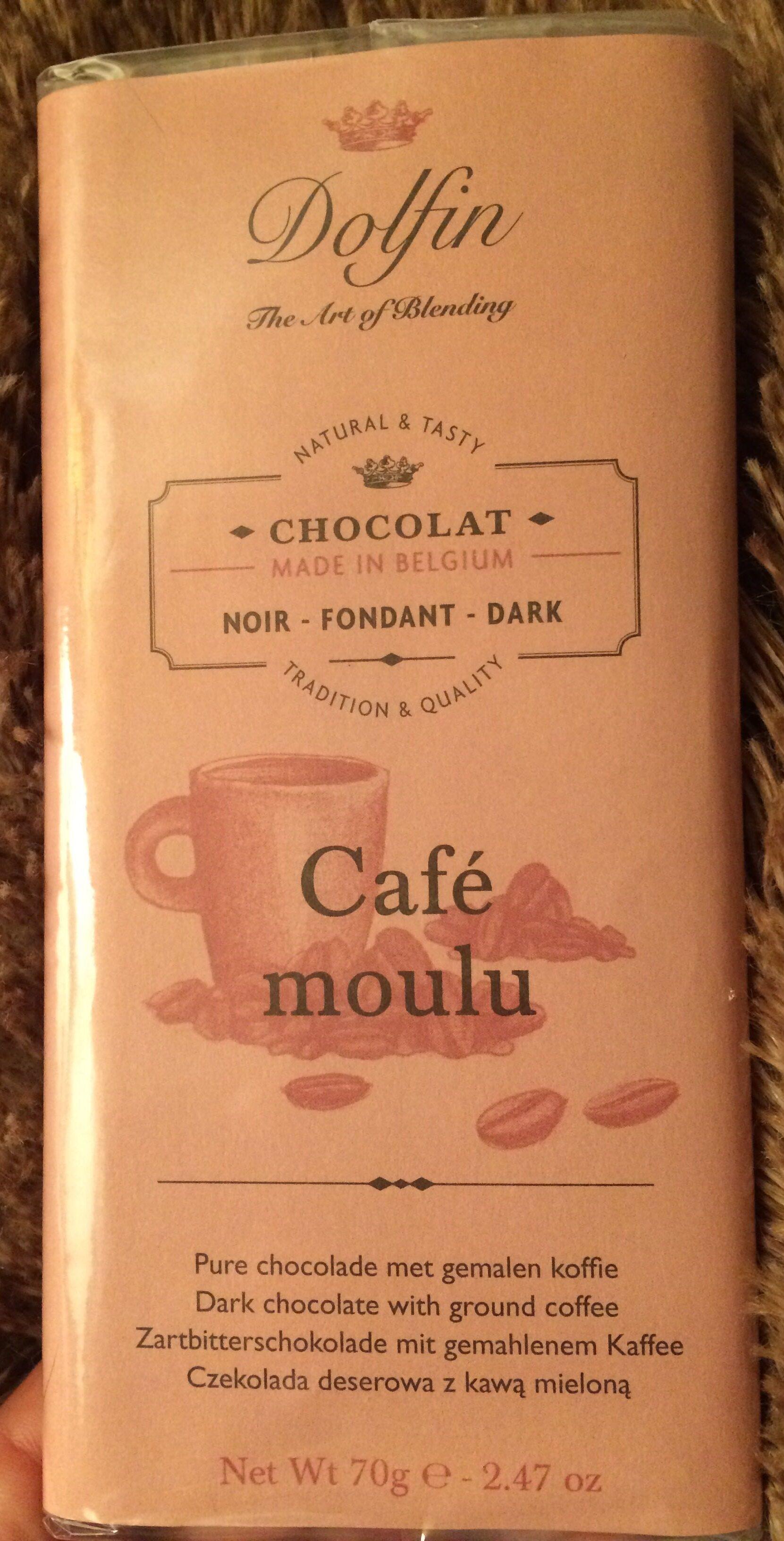 Dark chocolate with ground coffee - Produit - fr