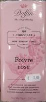 Chocolat Noir Poivre Rose - 60% Cacao - Product