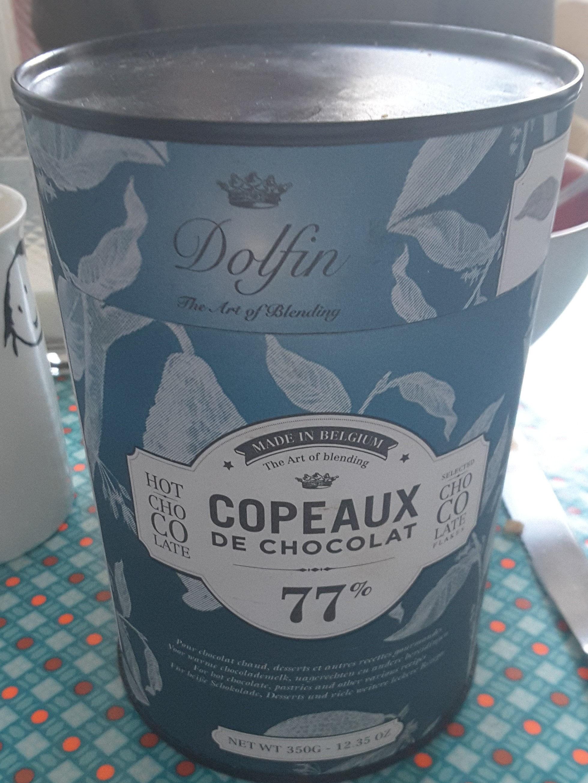Dolfin Les Copeaux Trinkschokolade 77 % Kakao (350G Dose) - Produit - fr