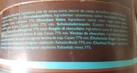 Dolfin Les Copeaux Trinkschokolade 77 % Kakao (350G Dose) - Ingrédients - fr