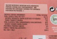 70G Chocolat Bio Noir 74% Cacao Amandes Salees - Voedingswaarden - fr