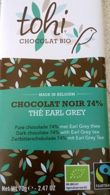 70G Chocolat Bio Noir 74% Cacao the Earl Grey - Product