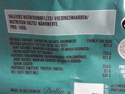 70G Chocolat Bio Noir 74% Cacao the Earl Grey - Nutrition facts - fr