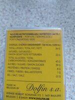 18 chocolats - Voedingswaarden