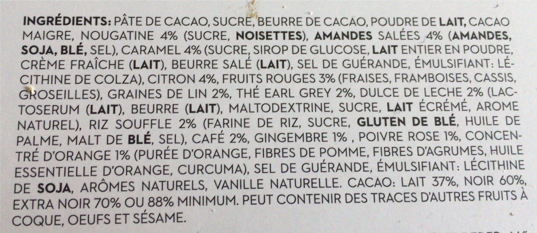 Assortiment de 48 chocolat - Ingrédients - fr
