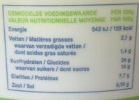 Fourrage au riz - Voedingswaarden - fr
