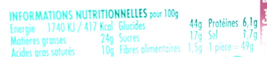 Original Doony's - Nutrition facts
