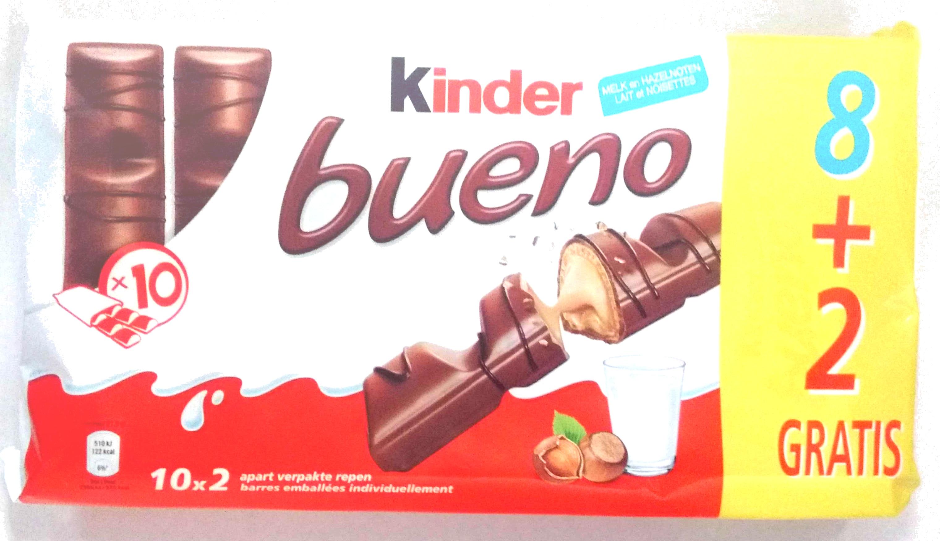 Bueno lait et noisettes - Product - fr