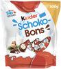 Kinder schokobons bonbons de chocolat au lait fourres lait et noisettes sachet - Produit