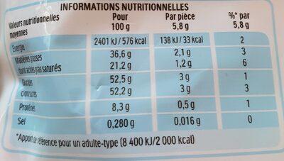 Kinder schokobons bonbons de chocolat au lait fourres lait et noisettes sachet - Informazioni nutrizionali - fr