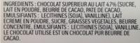 Kinder Suprise - Ingrediënten