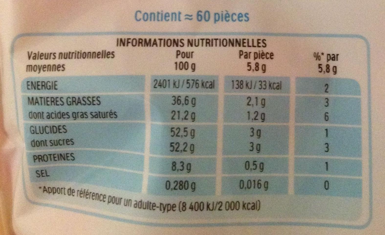 Schoko-Bons - Nutrition facts - fr