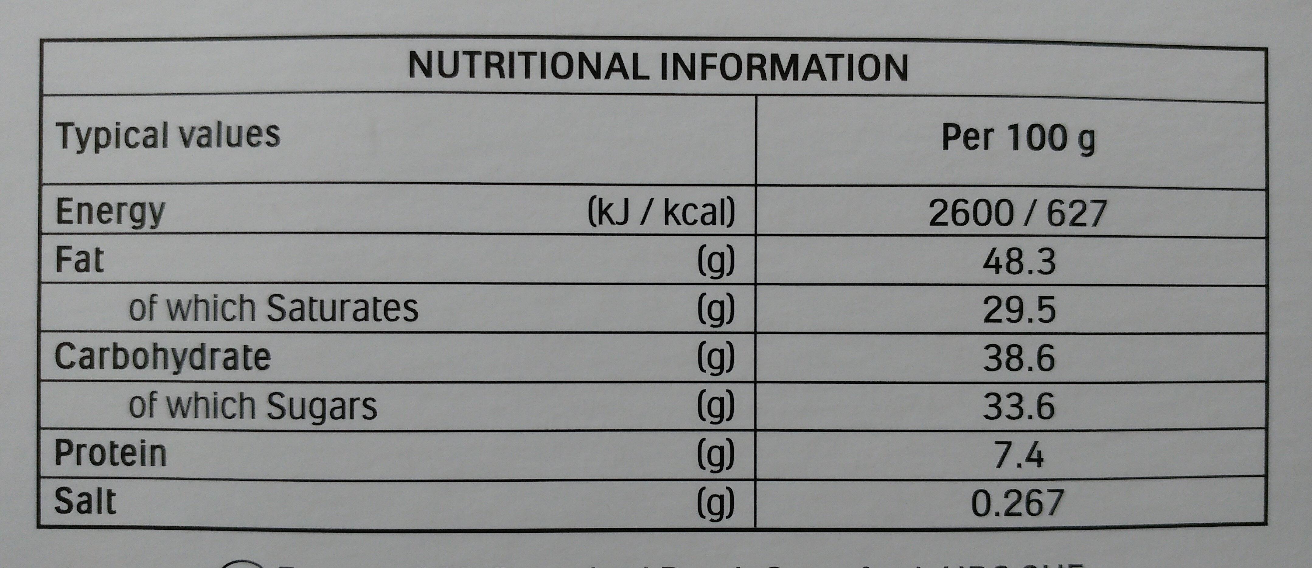 Raffaello - Nutrition facts - en
