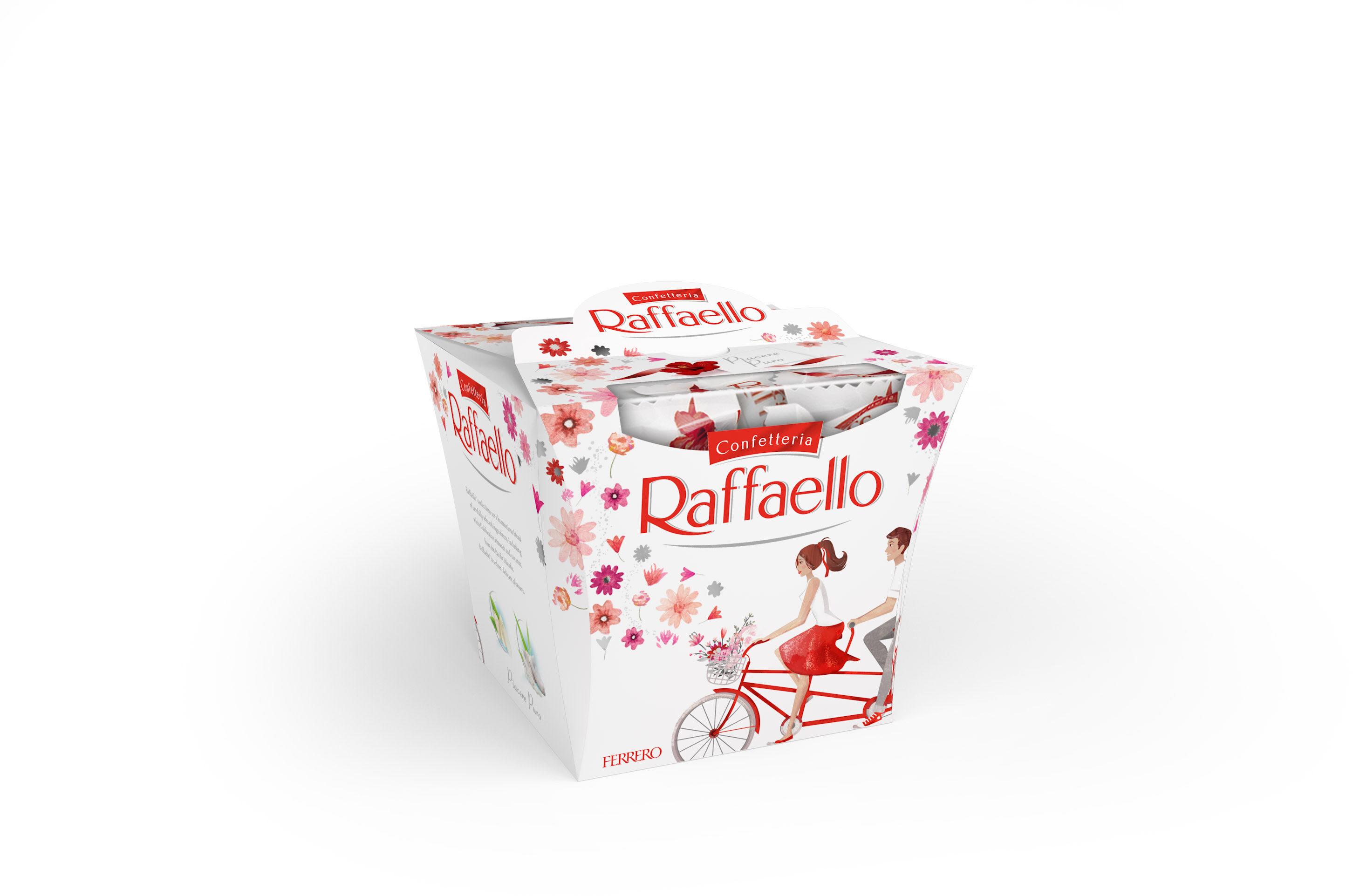 Raffaello fines gaufrettes enrobees de noix de coco fourrees noix de coco avec amande entiere ballotin de 18 pieces - Produit - fr