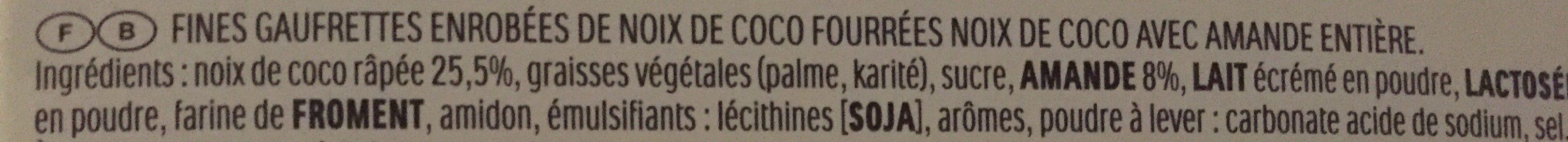 Raffaello - Ingrediënten - fr