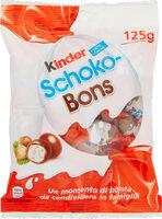 Kinder schokobons bonbons de chocolat au lait fourres lait et noisettes sachet de - Prodotto - fr