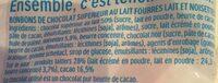Kinder schokobons sachet de - Ingredienti - fr