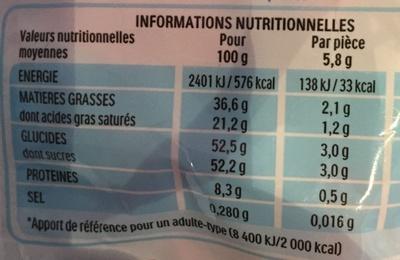 Kinder schokobons sachet de - Informazioni nutrizionali - fr