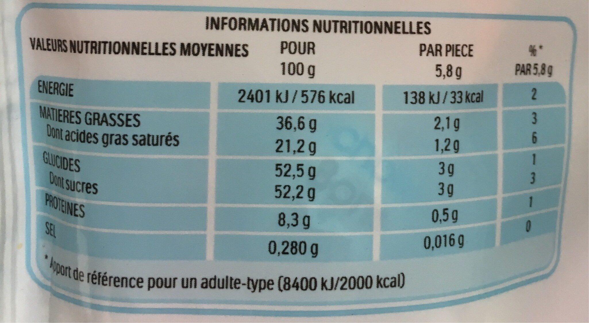 Kinder schokobons sachet de - Información nutricional - fr
