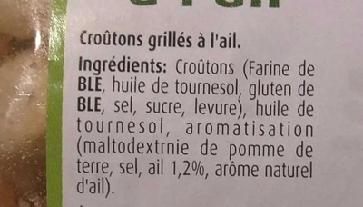 Croûtons à l'ail - Ingrédients - fr