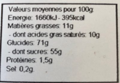 Crunchyfruits - Ingrédients - fr