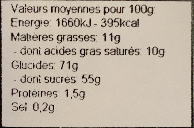 Crunchyfruits - Informations nutritionnelles - fr