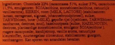 Bombe au chocolat - Ingrediënten - nl