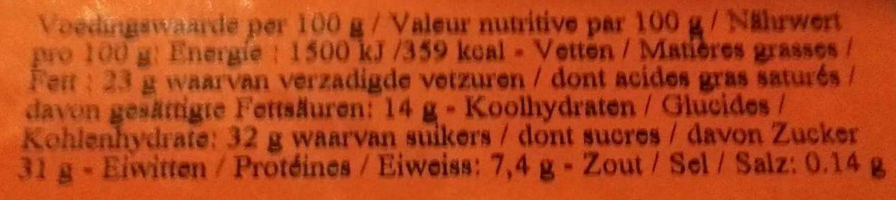 Bombe au chocolat - Voedingswaarden - nl
