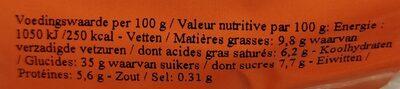 Gâteau au riz - Voedingswaarden - fr