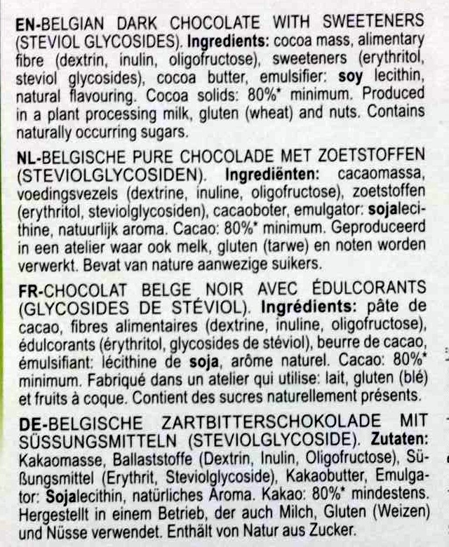 Dark 85% cocoa - Ingrédients